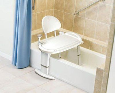 Shower And Bath Seats: Sliding Bath Seat Chair Bench Transfer Tub Heavy  Duty Shower Safety