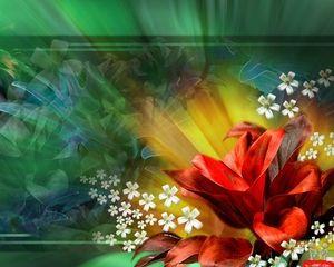 3d Flower Style Hd Wallpaper