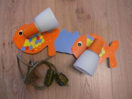 """Verkaufe KinderzimmerWandLampe """"Fische"""" orange/bunt"""