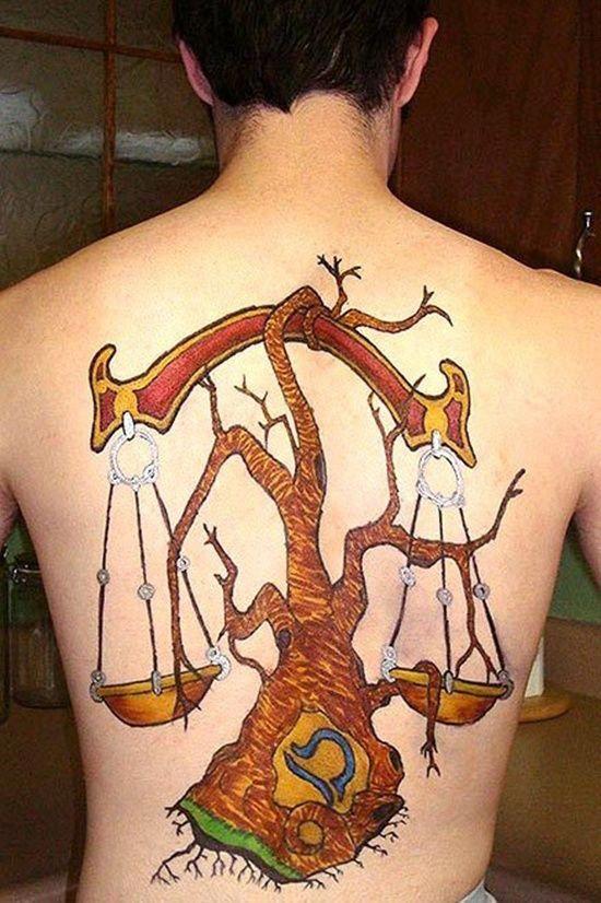 50 Creative Libra Tattoo Designs For Guys Tattoosonback Tattoos