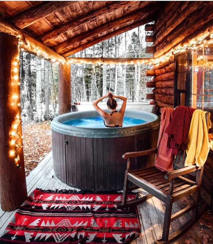 Pin by Cindy Murphy on Home Rustic hot tubs, Big bear