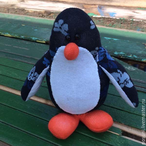 Купить Пингвин из носков Носуня - тёмно-синий, носуни, Носуня, пингвин, из носков, пингвин носуня
