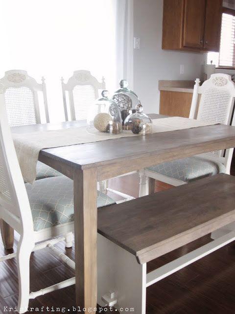 KrisKraft Restoration Hardware Table Knock Off Stain Tutorial I - Restoration hardware dining table knock off