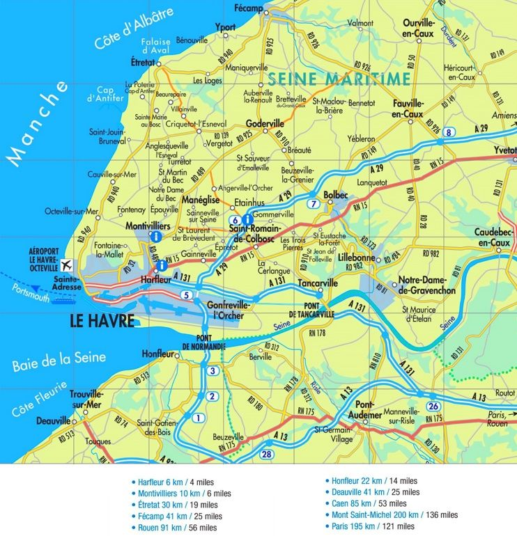 Le Havre road map Maps Pinterest France and City