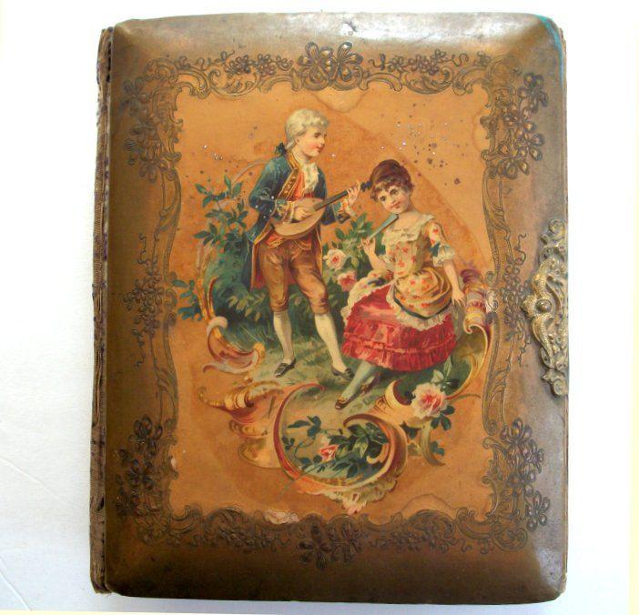 Antique Celluloid Photo Album Fab 1800s Large Photo Album With