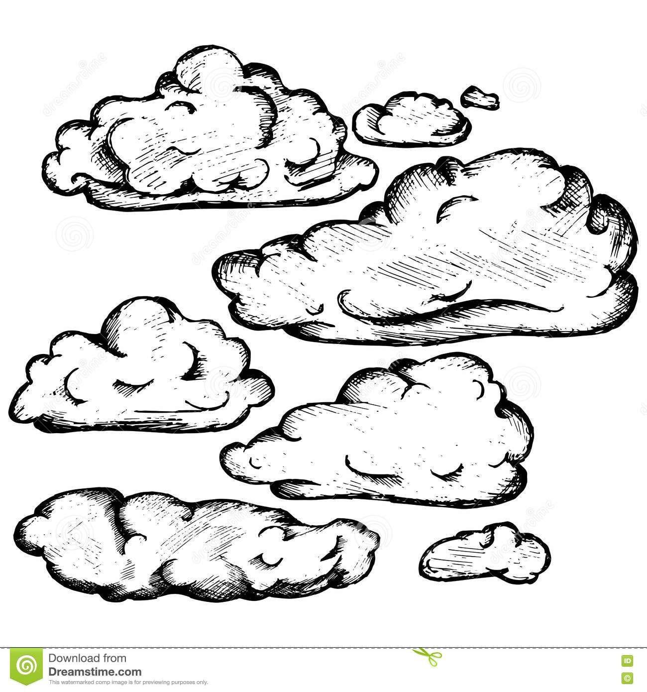 Sky With Cloud Closeup Cloud Drawing Wood Burning Patterns Drawings
