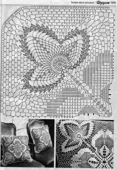 almohadones en crochet filet | cojin y peluches | Pinterest | Filete ...