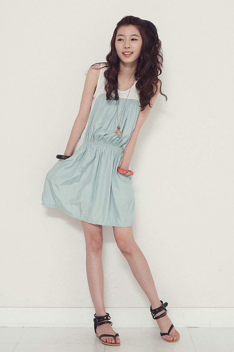 Girly Powder Blue And White Dress Itsmestyle K Fashion Pinterest Ulzzang Korean And Girly