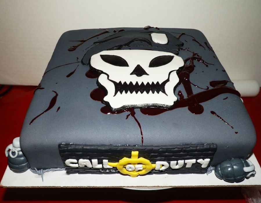 Call Of Duty Ghost Cake Call Of Duty Black Ops Gross Cakes