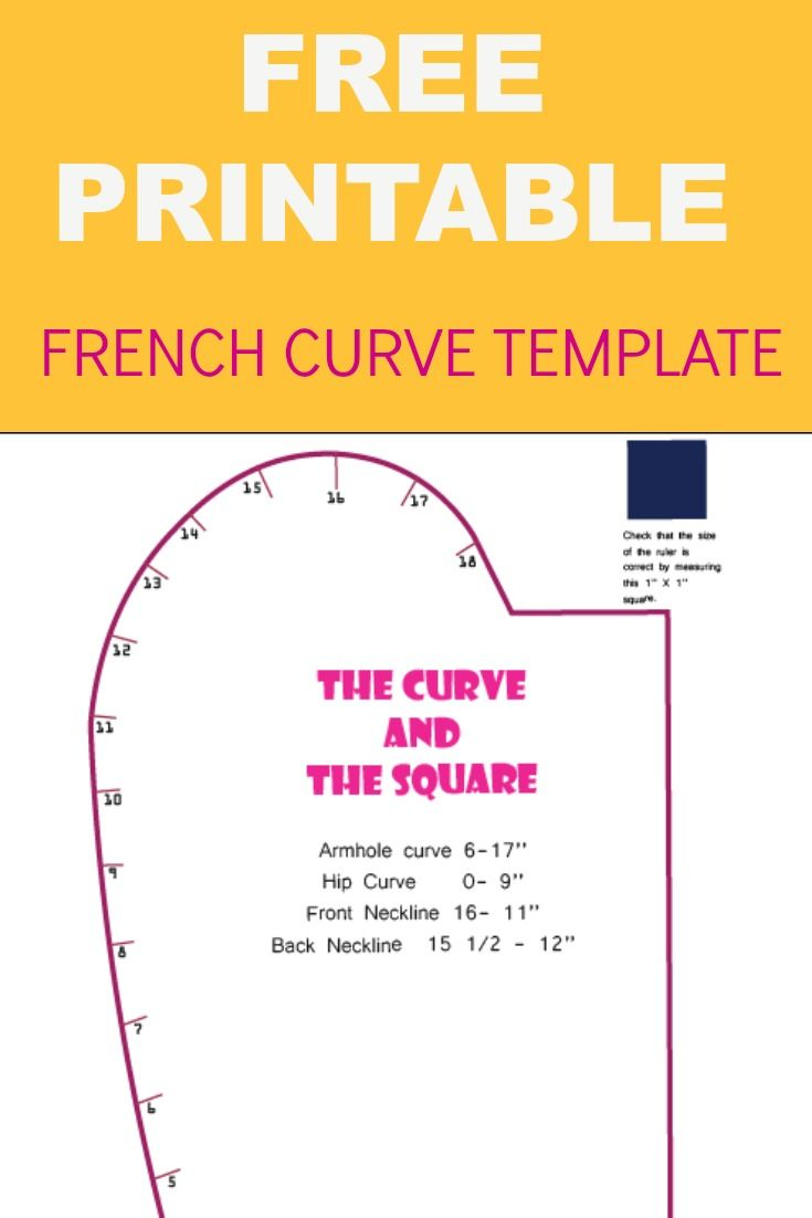 FRENCH CURVE PRINTABLE TEMPLATE | Curves and Free printable