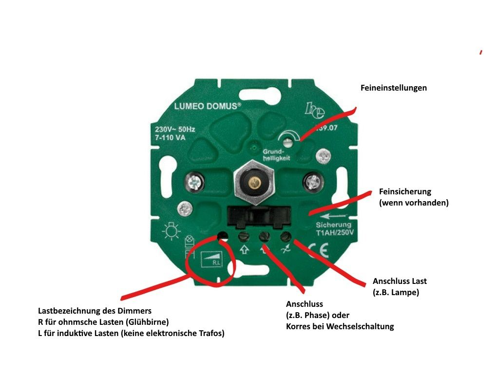Dimmer Bezeichnungen Dimmer Schalter Schalter Led Lampe Dimmen