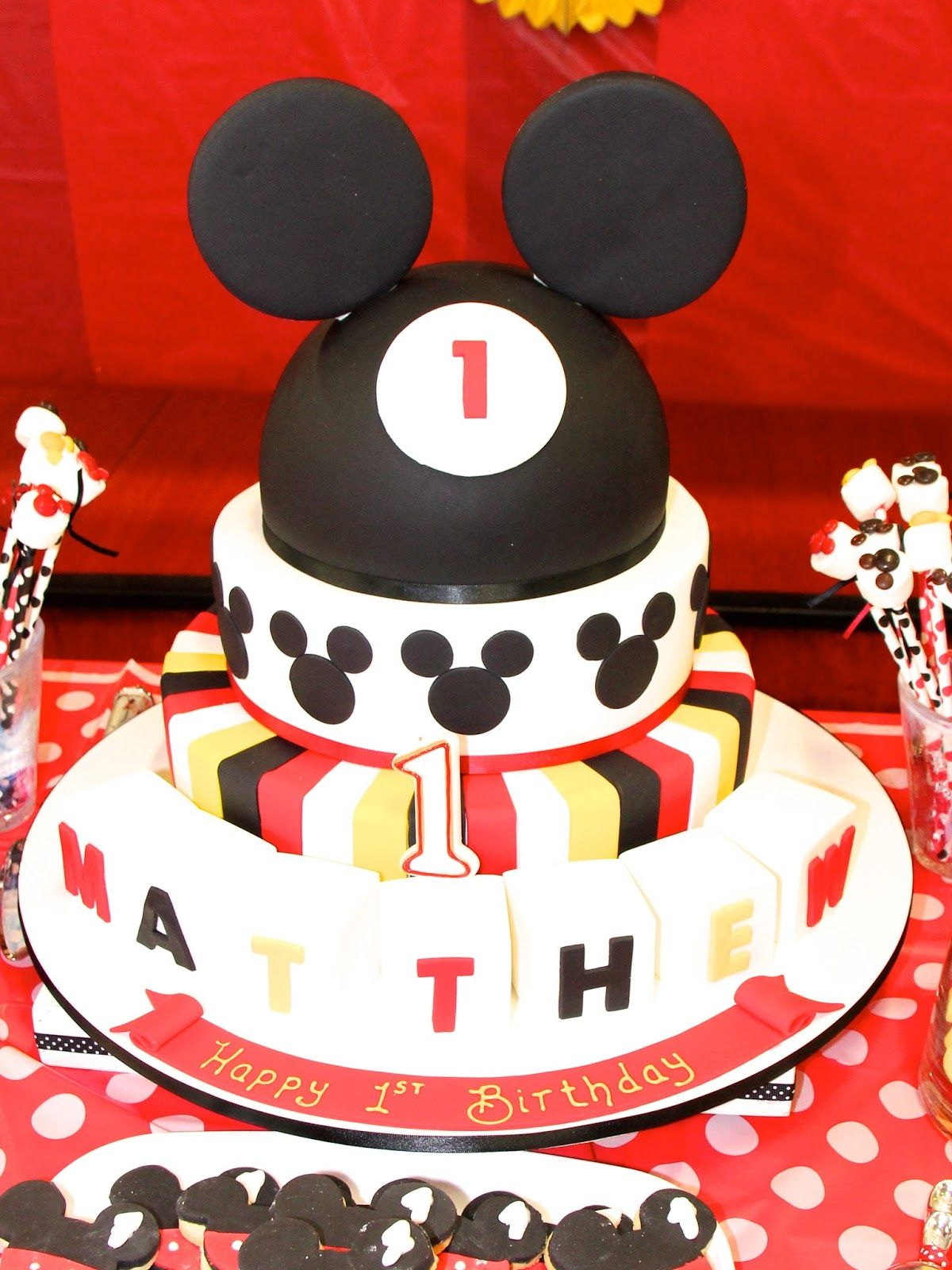 ... Birthday Cakes  Kids Party Ideas: Mickey Mouse Themed First Birthday