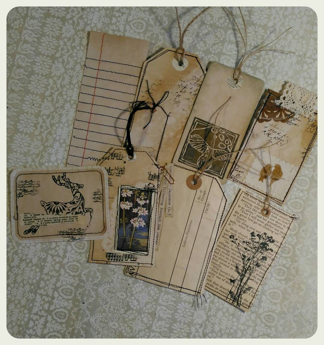 89 Likes 7 Comments Jibid Neary Woolyjibid On Instagram Tags Journalingcards Sets For Sale In My Ets Journal Cards Vintage Junk Journal Handmade Tags