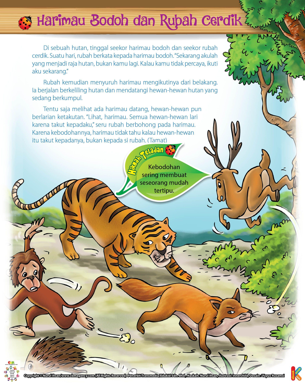 Harimau Bodoh Dan Rubah Cerdik Dongeng Dongeng Sebelum Tidur Komik Anak