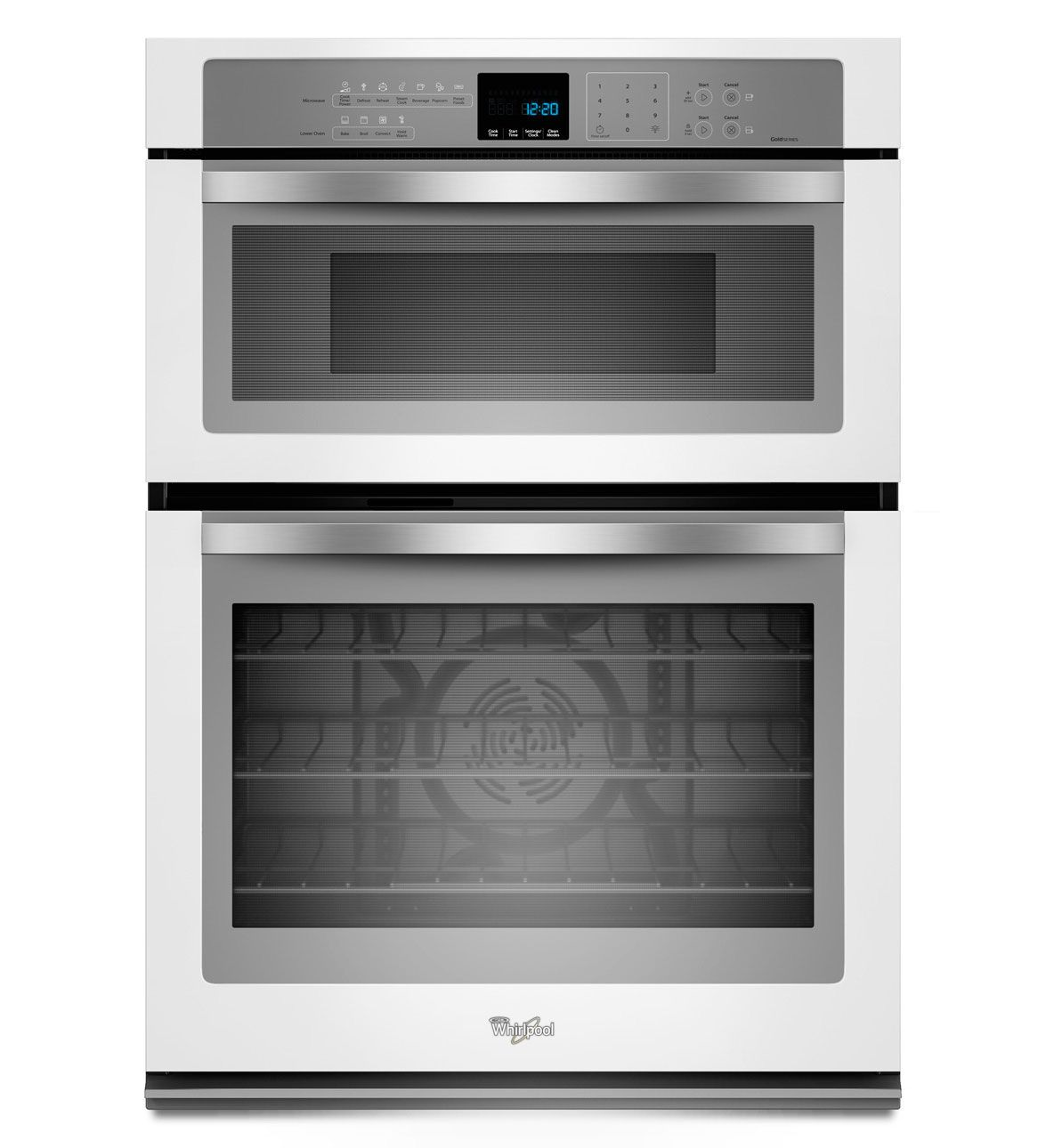 Whirlpool 5 0 Cu Ft Combination Microwave Wall Oven With Convection Cooking In White Ice