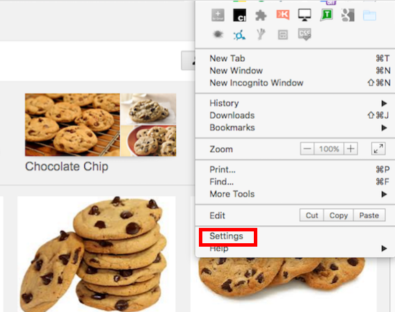 Delete tracking cookies from your system by following
