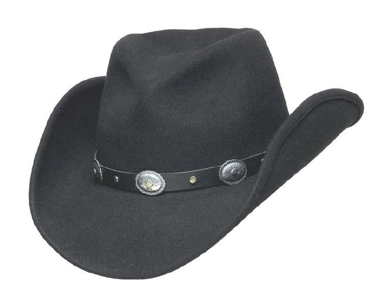 36fd22710c8 Wool Felt Crushable Pinch Front Cowboy Hat - Black or Brown ...