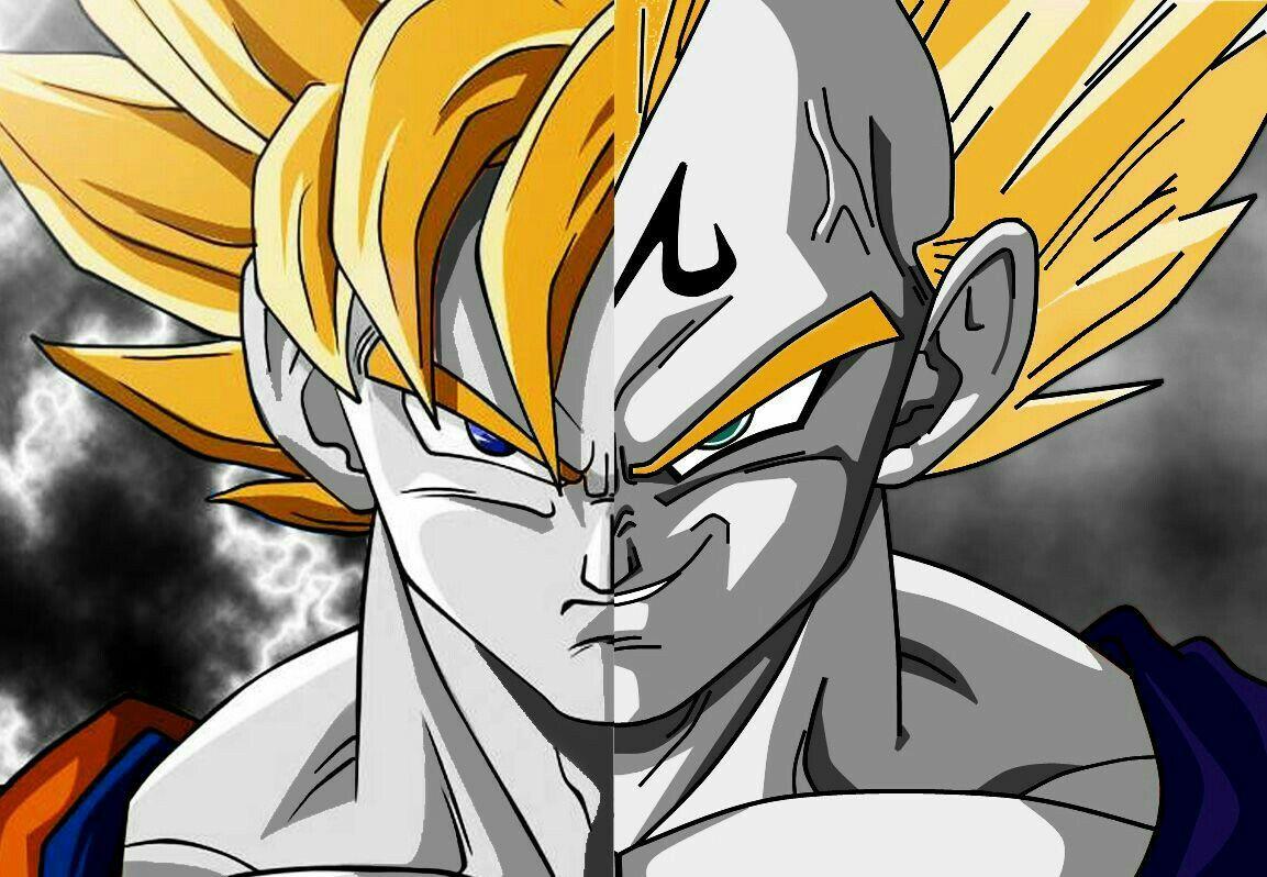 Goku & Majin Vegeta #db #dbz #dragonball