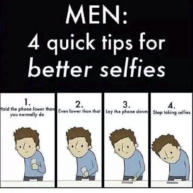 how to take a perfect selfie for guys
