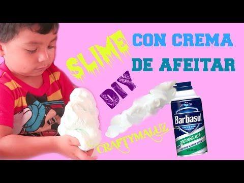 Diy Slime Con Crema De Afeitar Y Jabon Youtube Con Imagenes