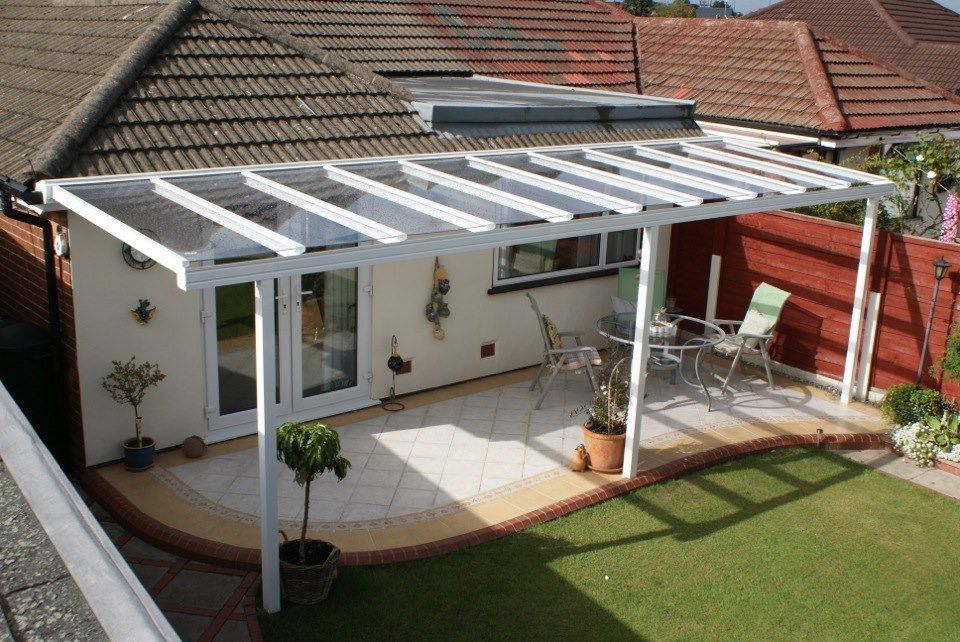 Great CLEAR AS GLASS Carport Patio Canopy Cover Lean To Awning Garden Pergola  Seating
