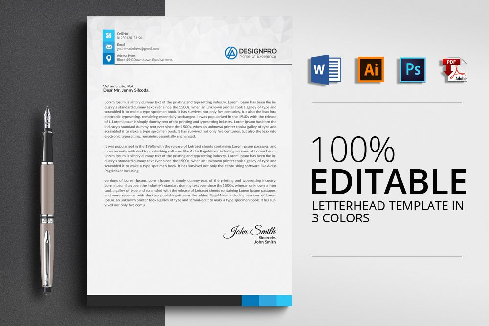 Construction Company Letterhead Templates You Can Download