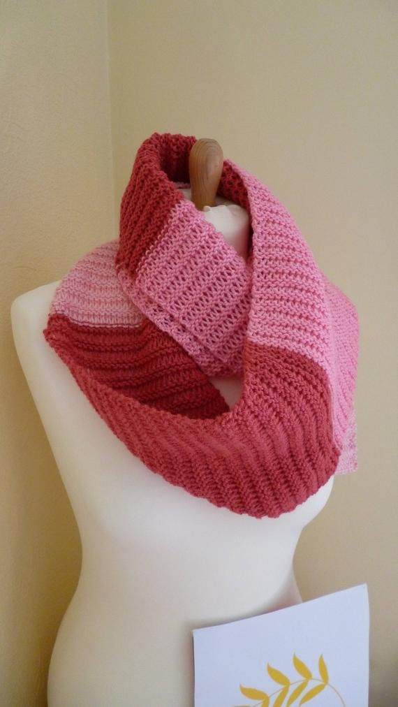 Photo of Lovey Shades Of Pink Hand Knitted Scarf – Nice and Long – Charity Listing – Ideal For Teenager Or Young Adult