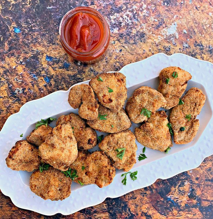 Easy air fryer crispy fried chicken nuggets is a quick kid