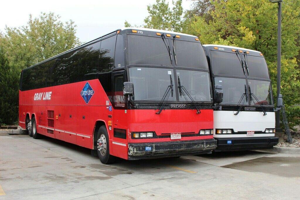 Gray line prevost in 2020 prevost bus vehicles