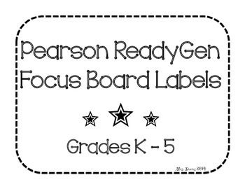Looking for labels to start or spruce up your Ready GEN focus bulletin board? Included in this pack are focus board labels and ReadyGEN pennants to make a classy title for your bulletin board. Black and White style.