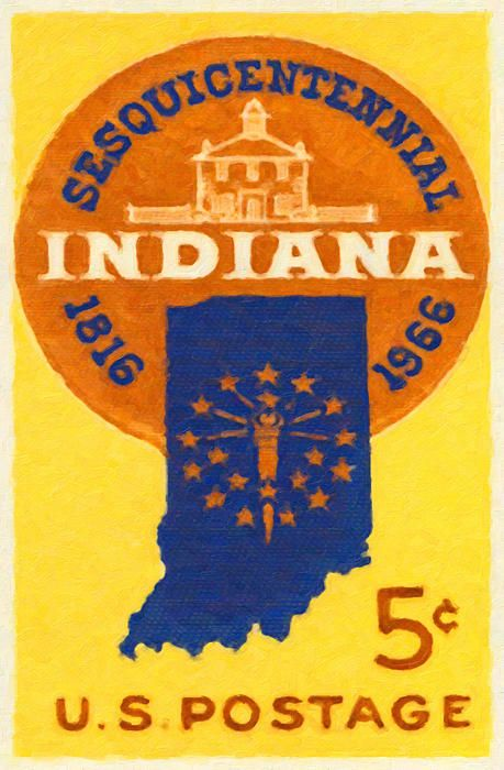 Pin by Yangyin Chee on Stamps | Stamp, Indiana state, Indiana