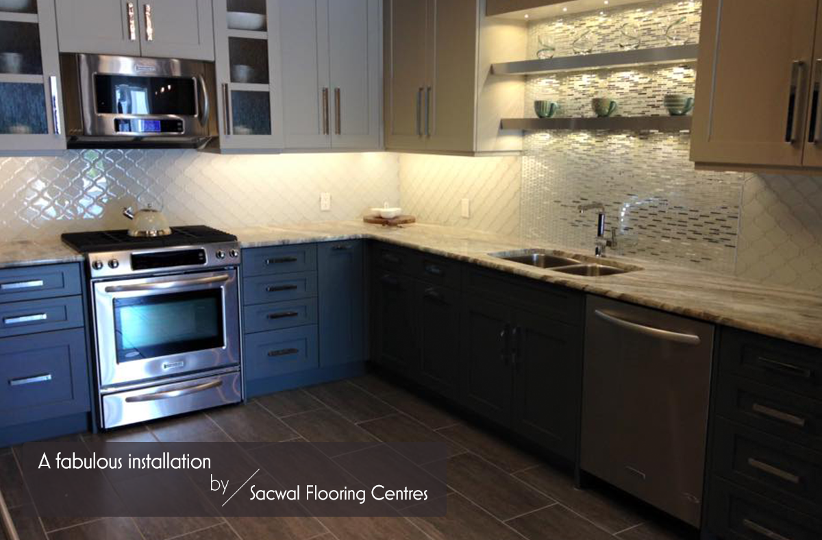 We adore this stunning kitchen designed by sacwal flooring centre