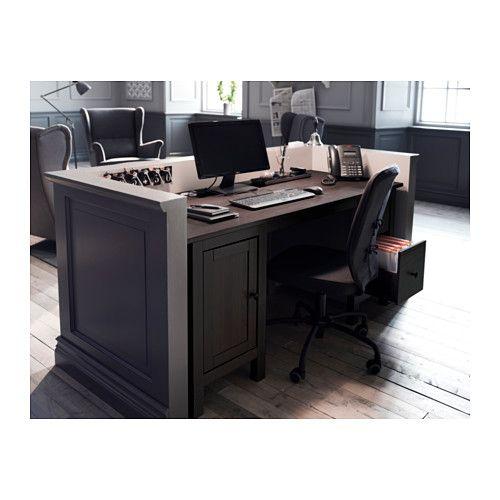Ikea schreibtisch schwarzbraun  HEMNES Schreibtisch, schwarzbraun   Möbel, Büromöbel und Furniture