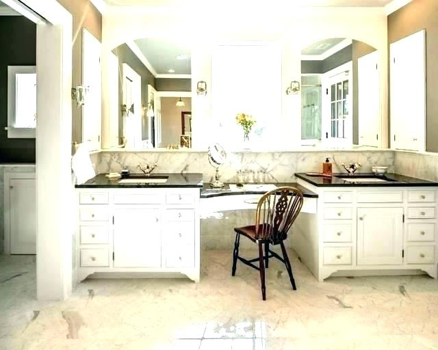 bathroom vanity with makeup table double sink vanities