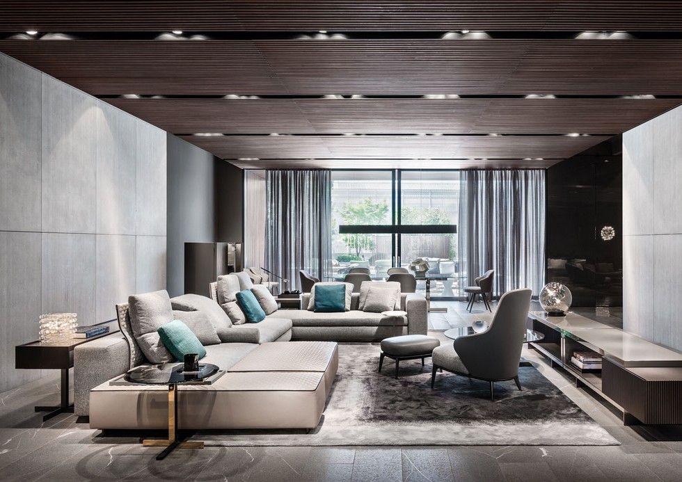 Milan furniture Minotti 2015 collection Sala Modelo. Não ha nada que eu não goste nessa foto.