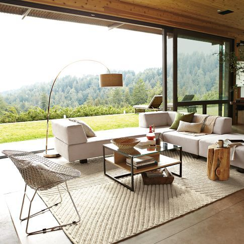 Overarching Floor Lamp - Natural
