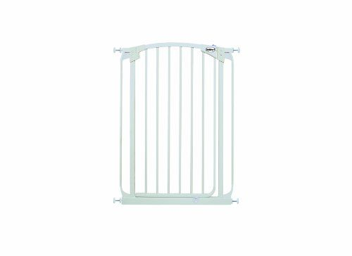 Bindaboo Hallway Pet Gate Swing Closed White Extra Tall