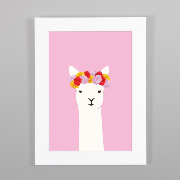 Llama Del Ray Print Nz Art Prints Design Posters Gifts Endemicworld A4