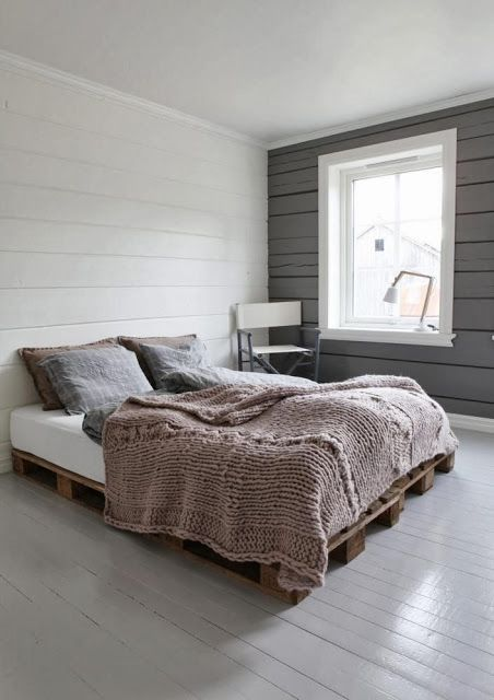 The Knitted Bedspread, And The Pallet Bottom