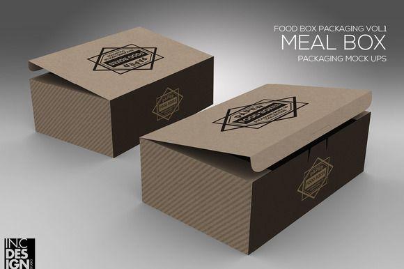 Download Meal Snack Food Box Packaging Mockup Food Box Packaging Packaging Mockup Packaging