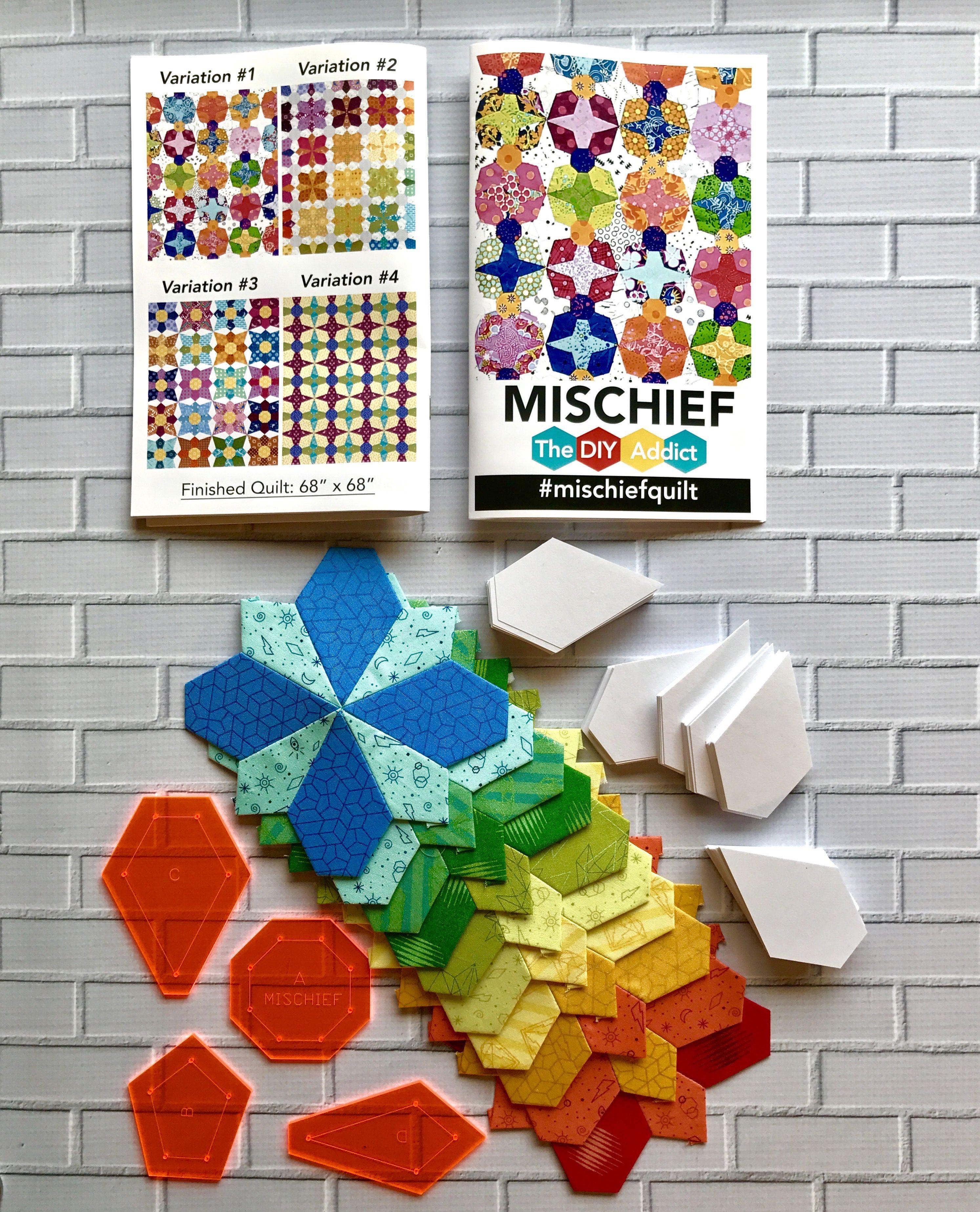 Mischief English Paper Piecing Quilt Pattern TheDIYAddict