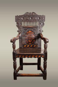 Late Elizabethan Wainscot Chair, Marhamchurch Antiques