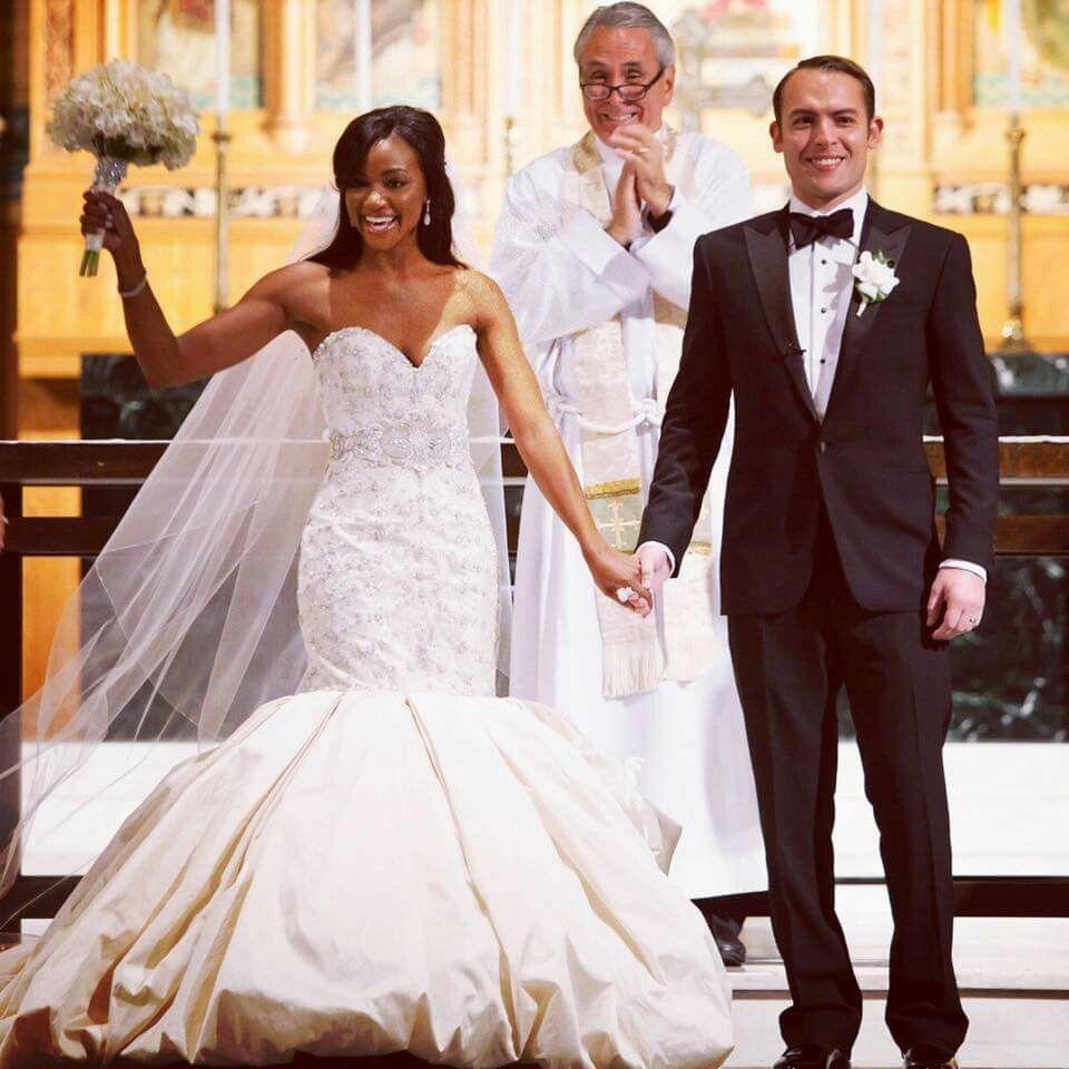 Jordan Benson And Brittany Payton Gorgeous Interracial Couple On Their Wedding Day Love Wmbw Bwwm Interracial Couples Celebrity Weddings Gorgeous Wedding