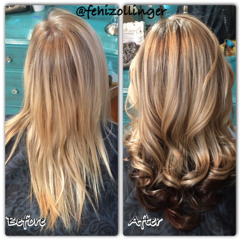 Fehizollinger Blonde Roots Touch Up With Chunky Highlights And