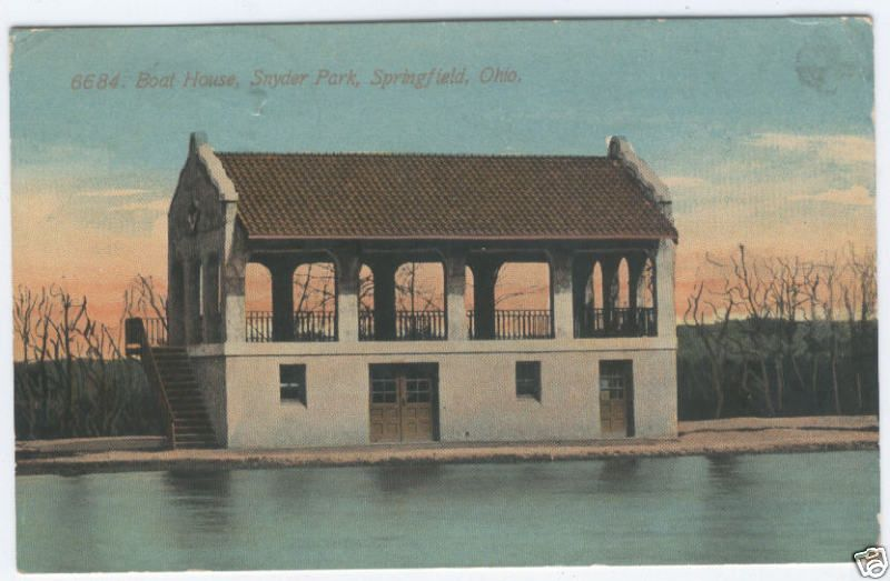 Snyder park boathouse in springfield ohio springfield