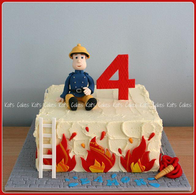 Fireman Sam Cake Cakes Pinterest Fireman Sam Cake Fireman