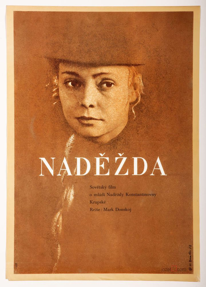 £0.99 Poster Auction / TUESDAY 218.06.2016 / Movie Poster HOPE / poster design: Vladimír Benetka, Czechoslovakia, 1973 | #filmposters #graphicdesign #poster