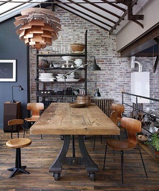 80 Industrial Home Interior Ideas 26 Dining Room Industrial
