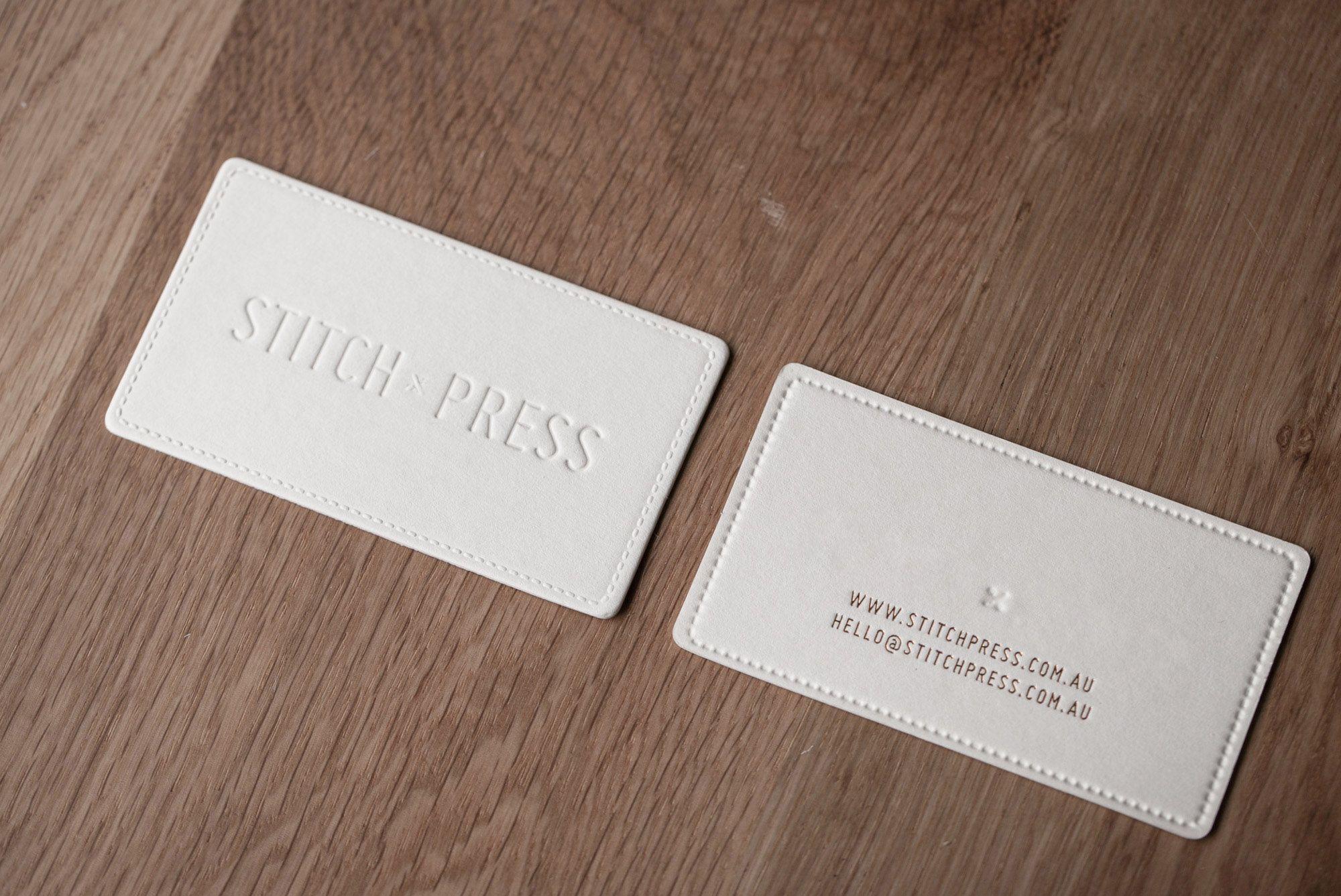 Foiling Business Card Sch Press Blind Deboss Emboss