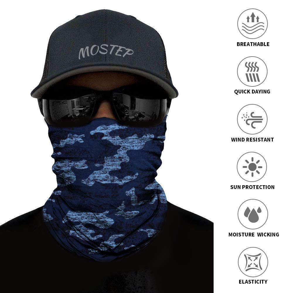 6pcs Magic Headband Head Wrap Elastic Bandana Outdoor Headwear Sport Scarf Neck Gaiter UV Resistence for Workout